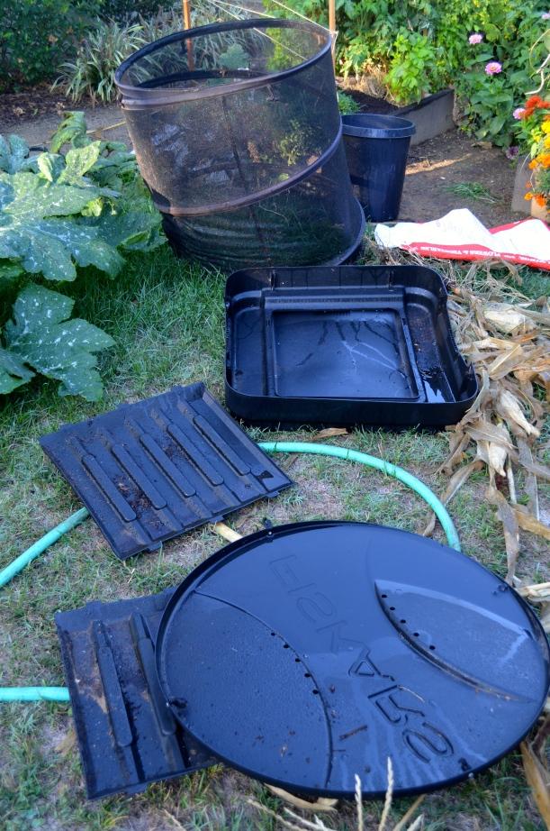 Deconstructed compost bins